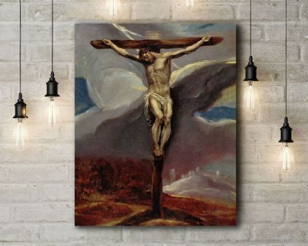 El Greco: Christ on the Cross. Fine Art Canvas.